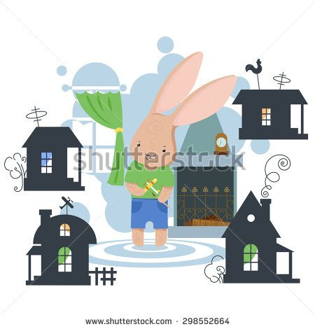 http://www.shutterstock.com/ru/pic-298552664/stock-photo-raster-illustration-from-a-children-s-puzzle-bunny-in-her-house-and-silhouettes-of-houses-around.html?rid=1558271