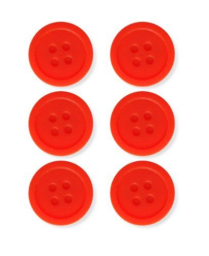 Kikkerland Silicone Tea Buttons, Set of 6 - http://teacoffeestore.com/kikkerland-silicone-tea-buttons-set-of-6/