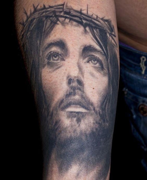 Jesus tattoo christian tattoos and jesus on pinterest for Tattoo artist job description