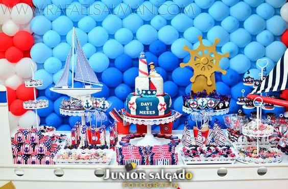 mesa de doces festa tema marinheiro