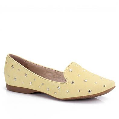Sapato Slipper Feminino Bottero 175302 - Amarelo