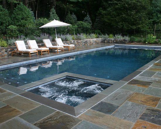 Trending Swimming Pool Design Ideas For 2017 Decorated Life Pool Patio Rectangular Pool Stone Pool Deck