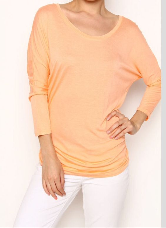 Georgia peach dolman top!  Get yours at www.thelaceisonboutique.com