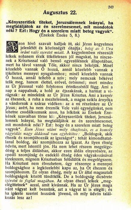 08.22. Spurgeon: Harmatgyöngyök...