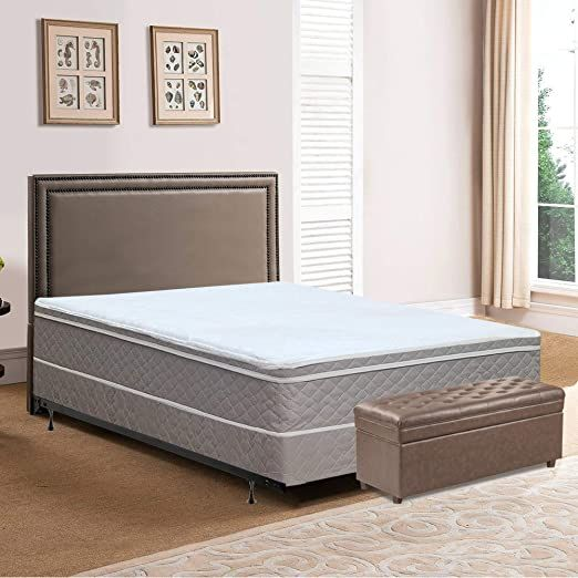 Spring Solution Long Lasting 10 Quot Pillowtop Fully Assembled Orthopedic Back Support Queen Mattress And Box Spring In 2020 Plush Mattress Mattress Comfort Mattress