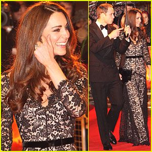 Duke and Duchess of Cambridge at the War Horse premiere.***Dress by Alice Temperley***
