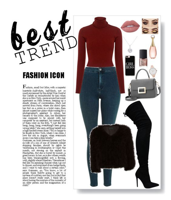 """""""A/W Outfit"""" by wallaceangel ❤ liked on Polyvore featuring Lime Crime, Casetify, Topshop, A.L.C., Jocelyn, Olivia Burton, NARS Cosmetics, Christian Dior and EWA"""