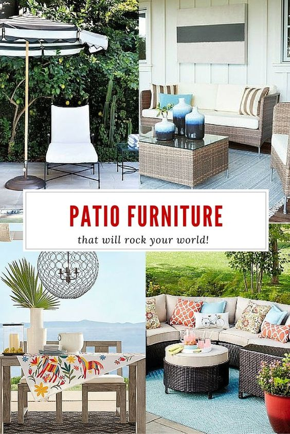 Patio Furniture that will rock your world! Great outdoor furniture ideas for every style | Four Generations One Roof