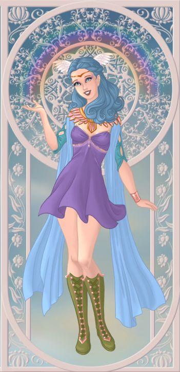 Iris, déesse de l'arc-en-ciel et messagère des dieux (on azalea's dolls):