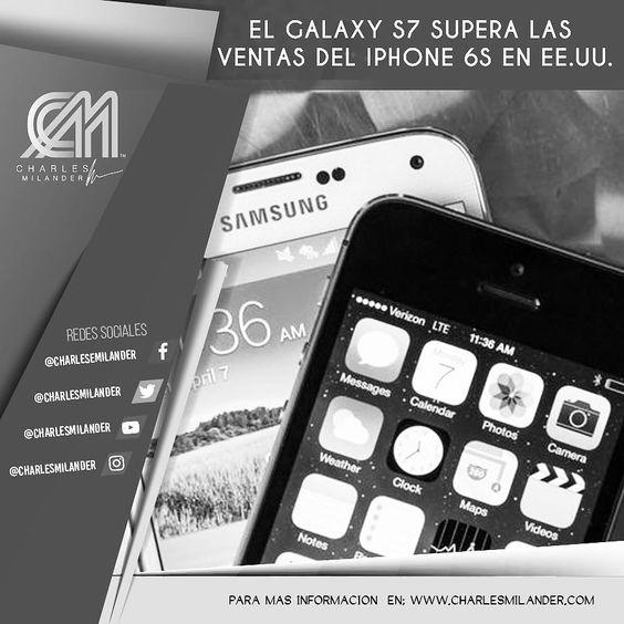 El #galaxys7 #galaxy supera las ventas del #iphone #iphone6s en #usa #technology #tecnologia #charlesmilander