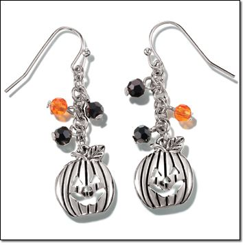 Trick or Treat Pumpkin Earrings