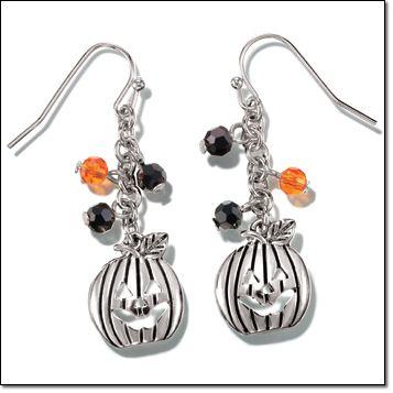 Trick or Treat Pumpkin Earrings