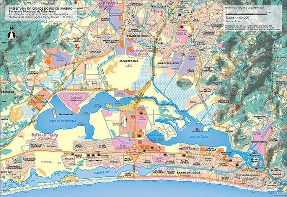 mapa Barra da Tijuca, RJ