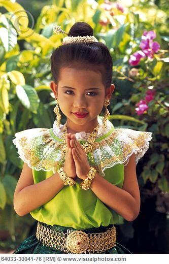 Традиционен Тайландски рокля.  Толкова сладко!: