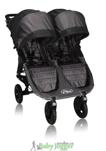 Baby Jogger City Mini GT Double Stroller, Black/Shadow