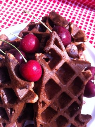 Cherry Chocolate Chip Paleo Pancake (or Waffles) - make a batch and use for the week!