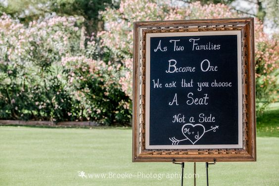 Kate & Company Weddings, Chandler, AZ   Ceremony & Reception Site: Ocotillo Golf Resort   Photography: Brooke Photography   Welcome Sign
