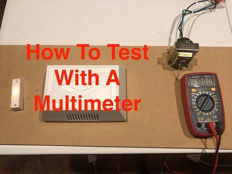 Test Doorbell Transformer With Multimeter Youtube Doorbell Transformer Multimeter Doorbell