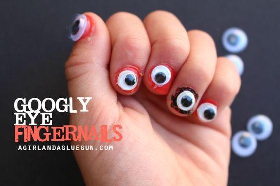 Halloween fingernails