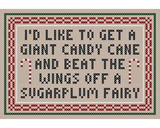 A Giant Candy Cane Original Cross Stitch Chart Inspired By Etsy In 2021 Giant Candy Cane Giant Candy Candy Cane