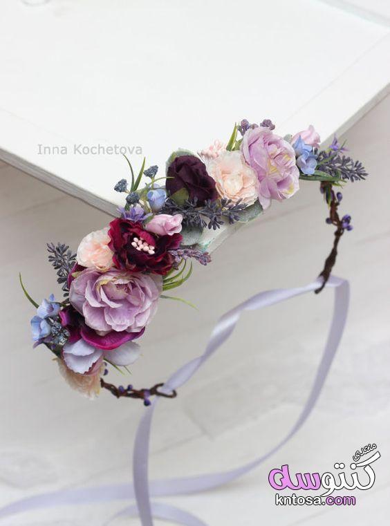 اطواق شعر بالورد 2019 طوق الورد للمحجبات تاج ورد طريقة عمل طوق ورد بالصور اكسسوارات شعر بالورد 2019 Bridal Flower Headpiece Flower Headpiece White Flower Crown