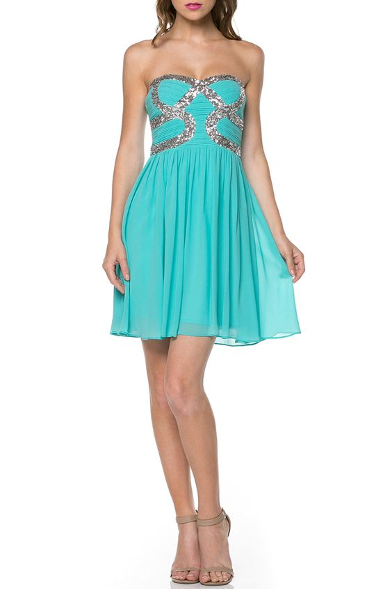 Minuet - Natalie Short Dress in Jade