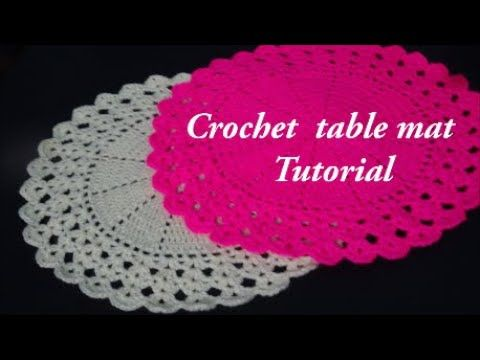 How To Make Simple Easy And Very Beautiful Round Crochet Table Mat Step Crochet Table Mat Table Mats Crochet