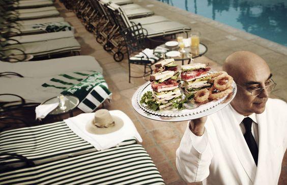 The Beverly Hills Hotel club sandwich. Yum!