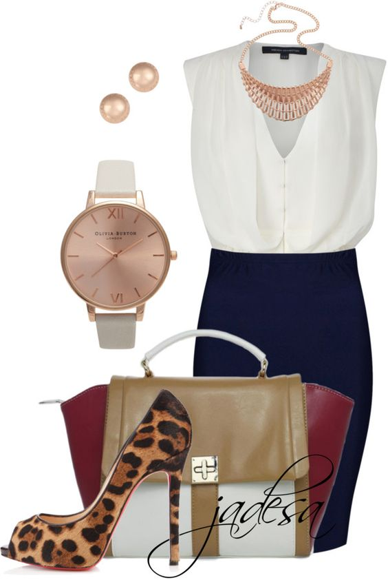 """Animal at the Office"" by jadesa ❤ liked on Polyvore"
