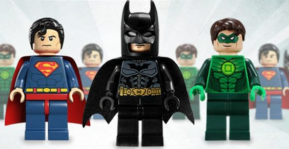 My 3 faves of justice league- Green Lantern, Batman, and Superman.