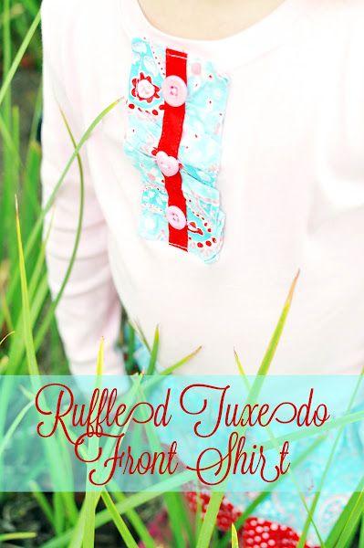 ruffled tuxedo front shirt