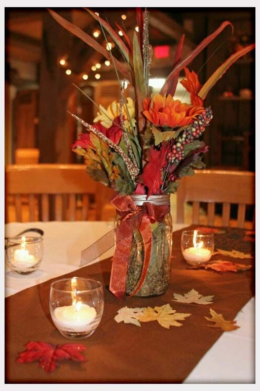 Autumn Wedding Decorations | Decorations, Fall Wedding Table Decorations  Photos: Fall Wedding Table ... | Wedding | Pinterest | Autumn Weddings, ...