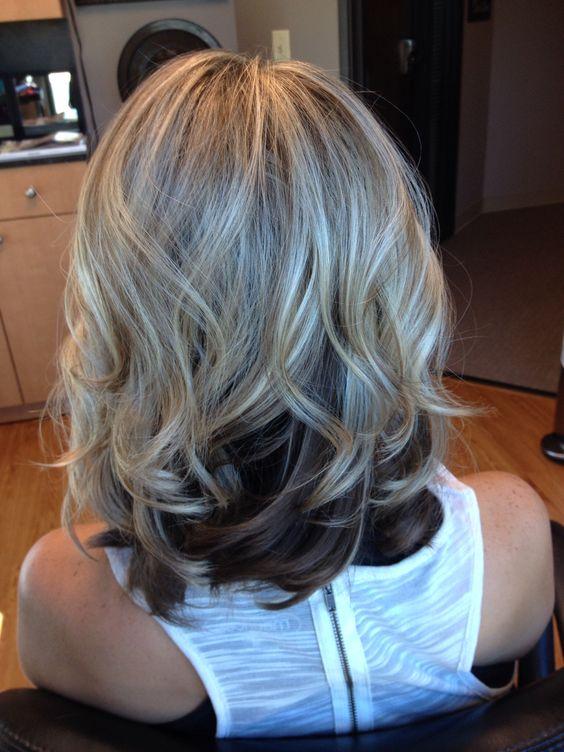 Blonde top, dark underneath