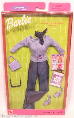 New Fashion Avenue Barbie Charm Concert Green Fashion Doll Clothes 2000 | eBay