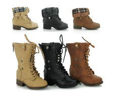 Details about NEW Girl's Combat Riding Mid-Calf Boots - Toddler ...