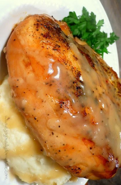 "Slow Cooker ""Roasted"" Herb Chicken with Gravy 
