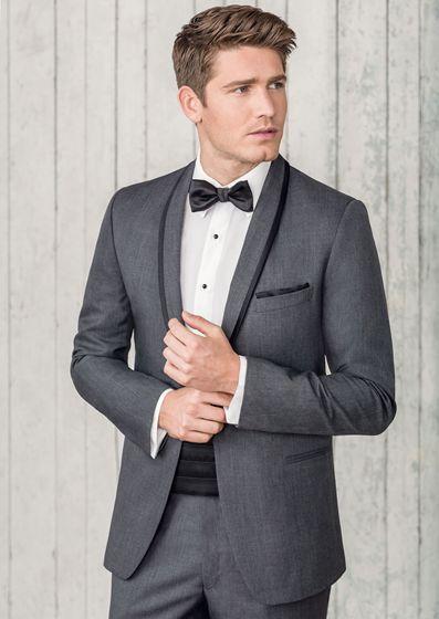 elegant grey grooms attire