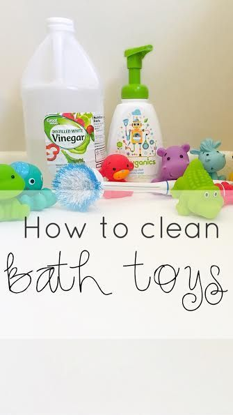 How to clean bath toys naturally WITHOUT bleach