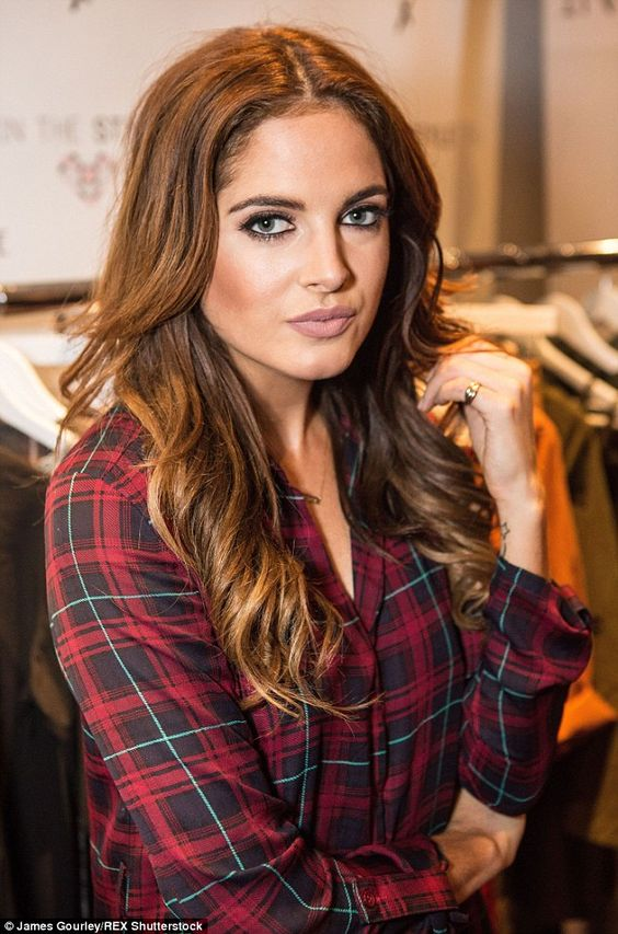 Picture perfect: Felstead went for full glamour make-up with black eyeliner, strong brows ...