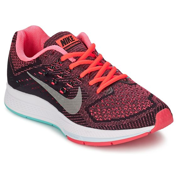 Chaussures de running Nike ZOOM STRUCTURE 18 Corail / Gris prix promo Baskets Femme Nike Spartoo 129.00 €