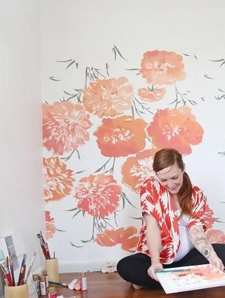 ** LOVE this floral wall mural!!!** Pregnant blogger Chriselle Lim gives an exclusive look inside the newly designed nursery for daughter Chloe.