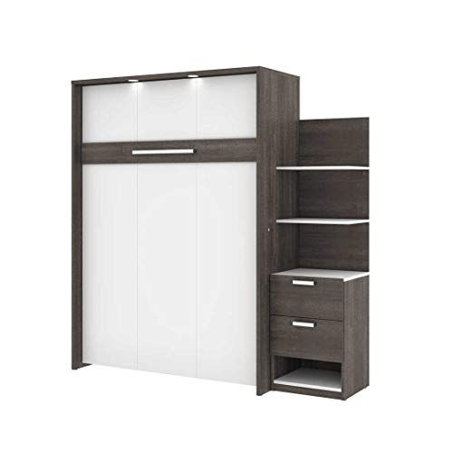Full Wall Bed And 1 Storage Unit With Drawers 79 In 2020 Wall Bed Locker Storage Storage