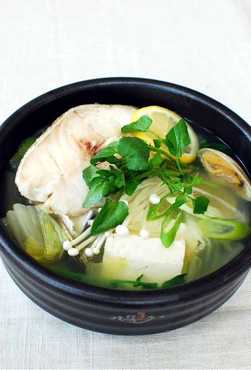Stew daegu and cod fish on pinterest for Fish soup cod