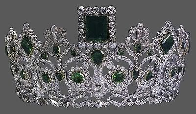 Emeralds and diamonds...