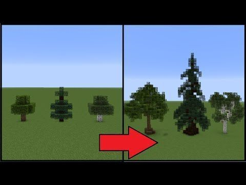 Minecraft How To Make Better Trees Y Minecraft Trees Minecraft Garden Minecraft Blueprints Minecraft Architecture