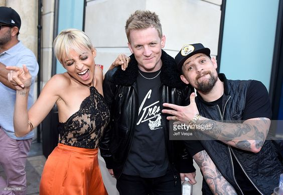 Nicole Richie, Josh Madden and singer Joel Madden attend VH1's 'Candidly Nicole' Season 2 Premiere Event at House of Harlow at The Grove on July 7, 2015 in Los Angeles, California.