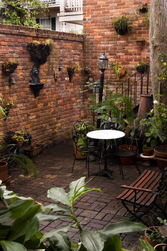 17 best images about courtyard patio guest rooms wings for Small french courtyard gardens