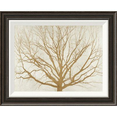 Global Gallery 'Golden Tree' by Aprile Framed Graphic Art Size: