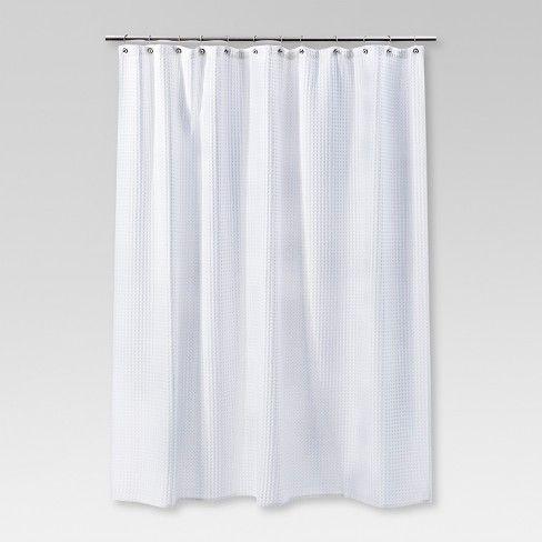 Waffle Weave Shower Curtain White Threshold Waffle Weave