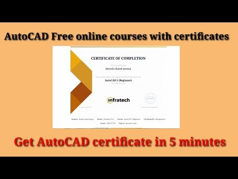 Autocad Free Course With Certificate Job Oriented Courses For Mechanical And Electrical Engineers Youtube In 2020 Autocad Free Free Courses Autocad